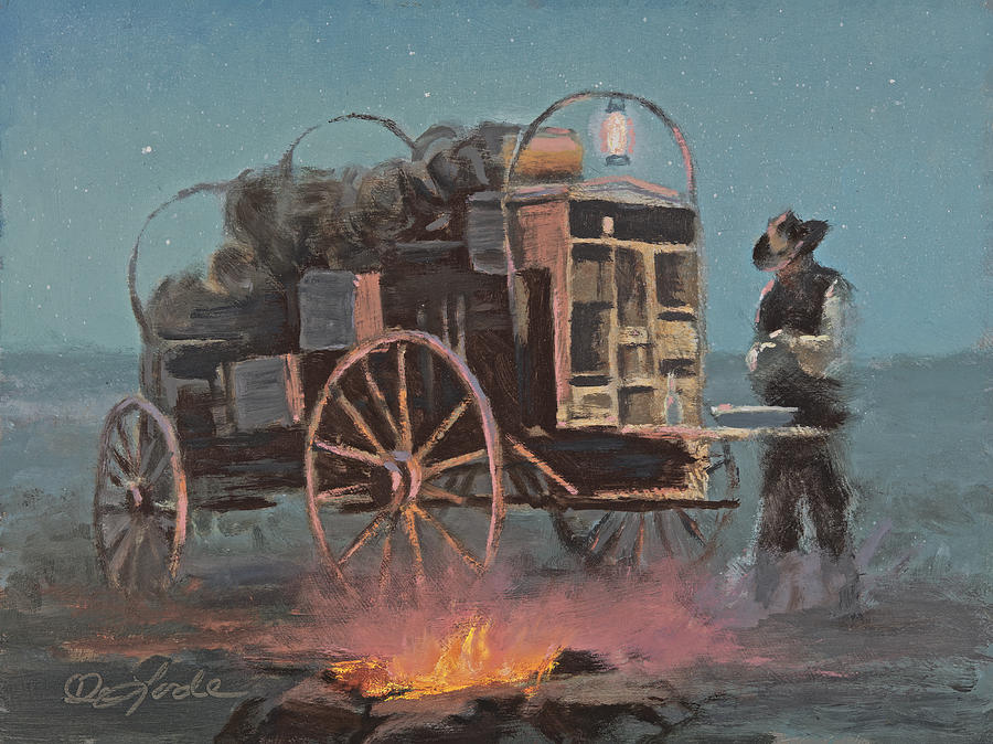 Chuckwagon Painting - Cowboy Kitchen by Mia DeLode