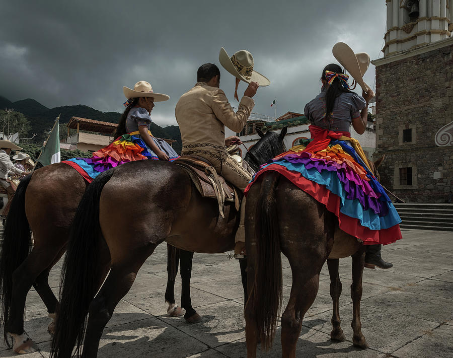 Cowgirls Photograph - Cowboys and Sombreros by Dane Strom