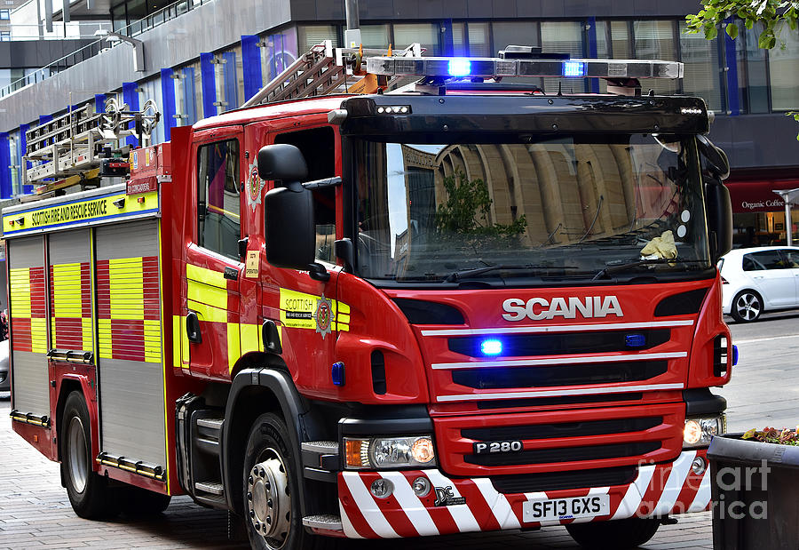 Cowcaddens Fire Engine by Yvonne Johnstone