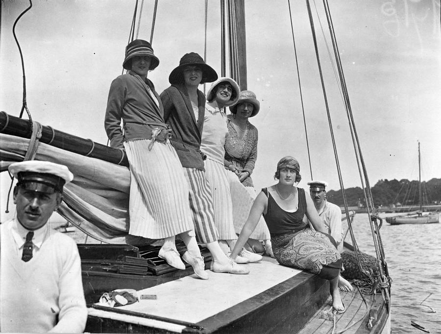 Cowes Yacht Photograph by W. G. Phillips