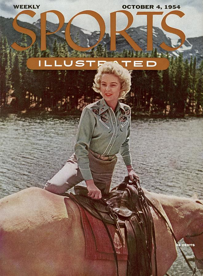 Cowgirl Sporting Look Sports Illustrated Cover Photograph by Sports Illustrated