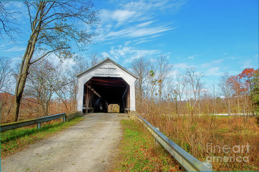 Cox Ford Covered Bridge by David Arment