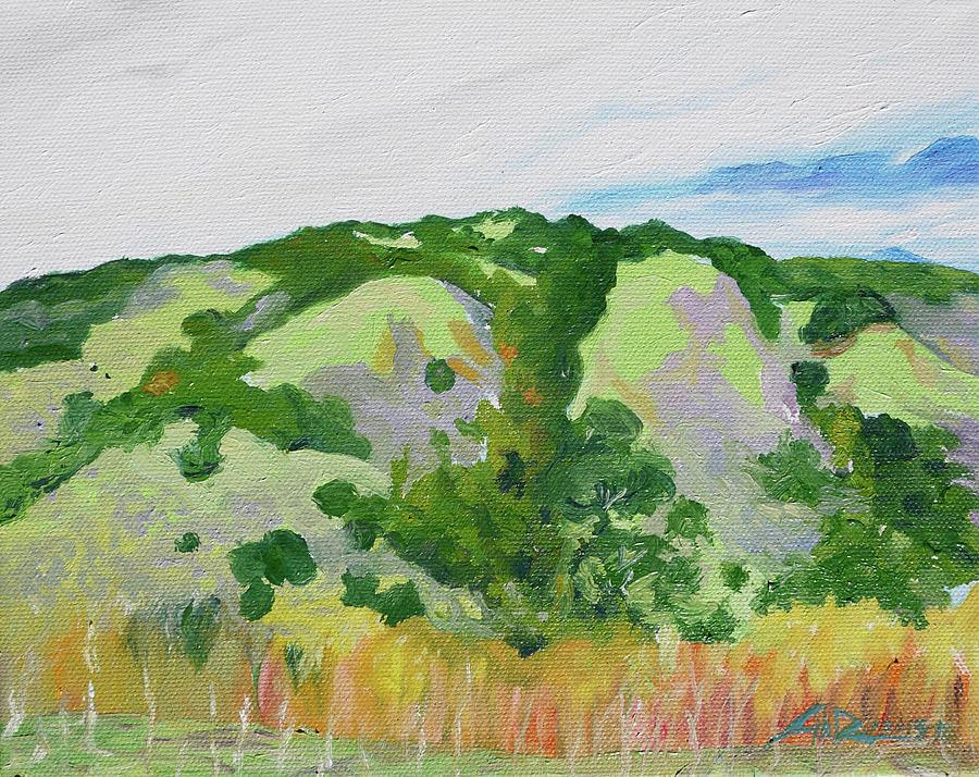 Plein Painting - Coyote Lake CA by Joseph Demaree