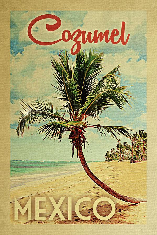 Cozumel Digital Art - Cozumel Mexico Palm Tree by Flo Karp