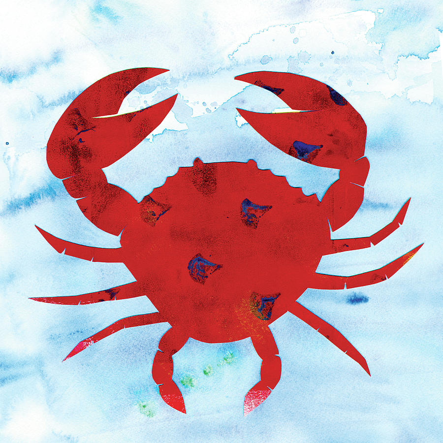 Crab Painting - Crab by Summer Tali Hilty