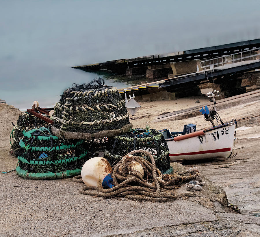 Crab Traps and Buoys by Phyllis Taylor