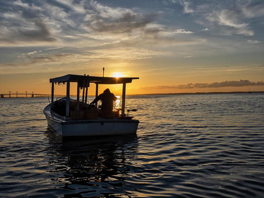 Crabbing on the Chesapeake Bay by David Kay