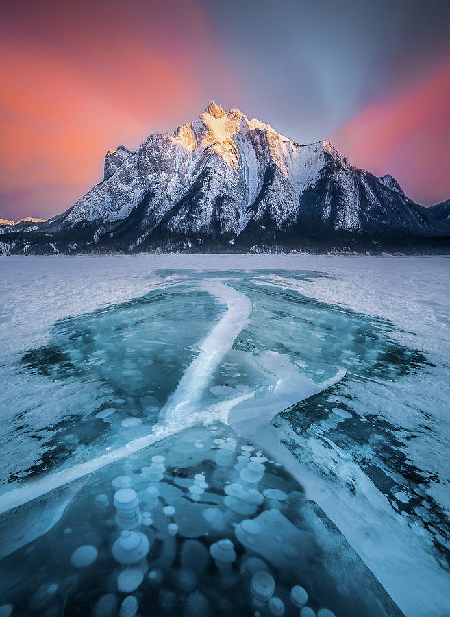 Cracked / Abraham Lake, Canada  by Nicholas Parker