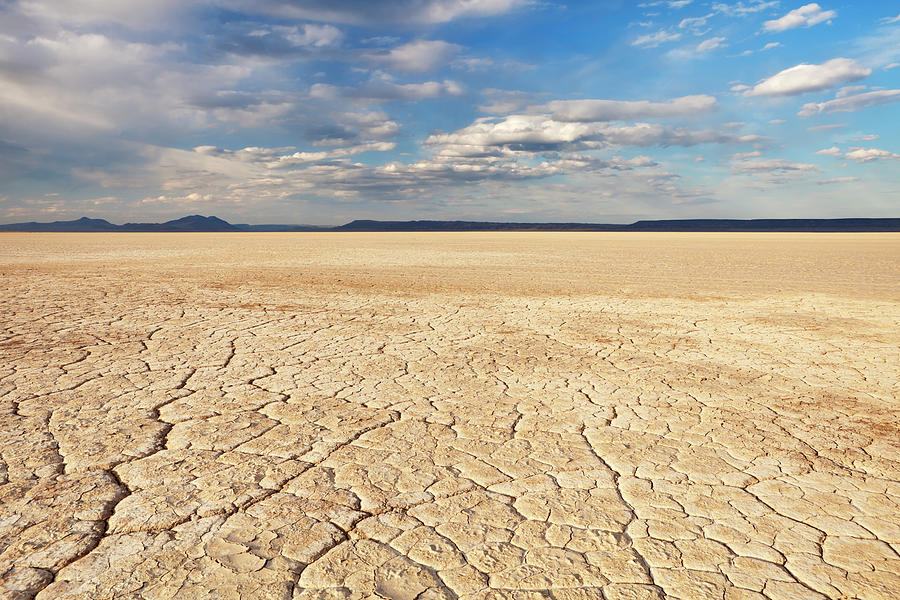 Cracked Earth In Remote Alvord Desert Photograph by Sara winter