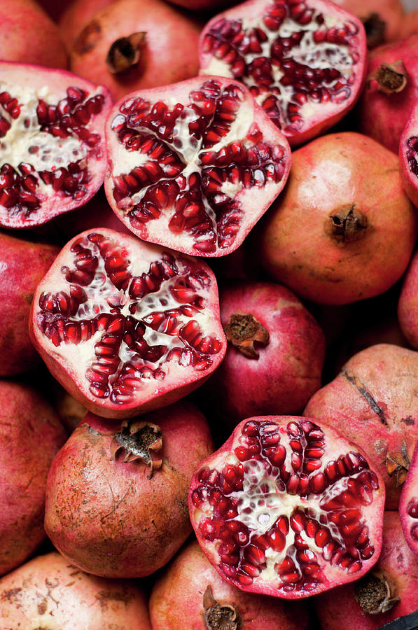 Cracked Pomegranate Photograph by Subman