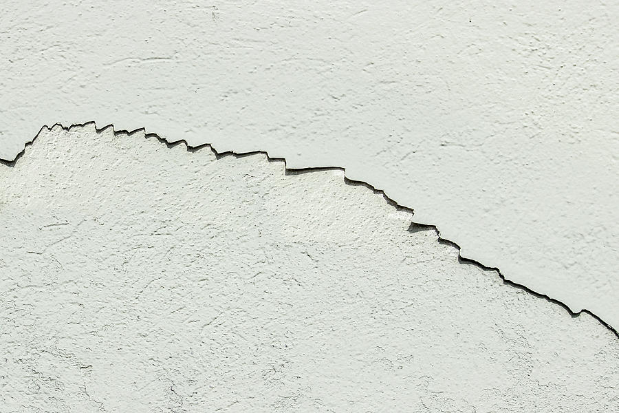 Cracked wall surface by Bob Duncan