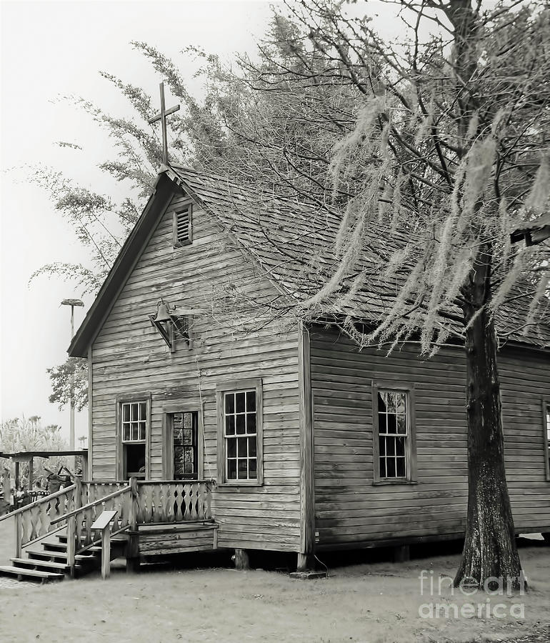 Cracker Church 1900s BW by D Hackett