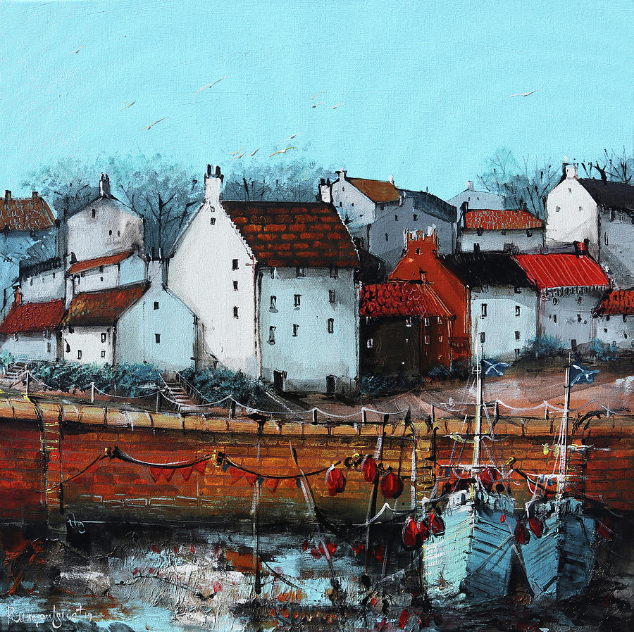 Crail Harbour Side by Irina Rumyantseva