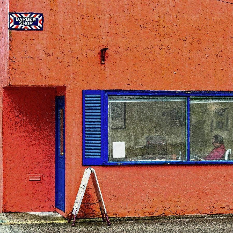 Blue Digital Art - Cranberry Barber Shop by Bill Linn