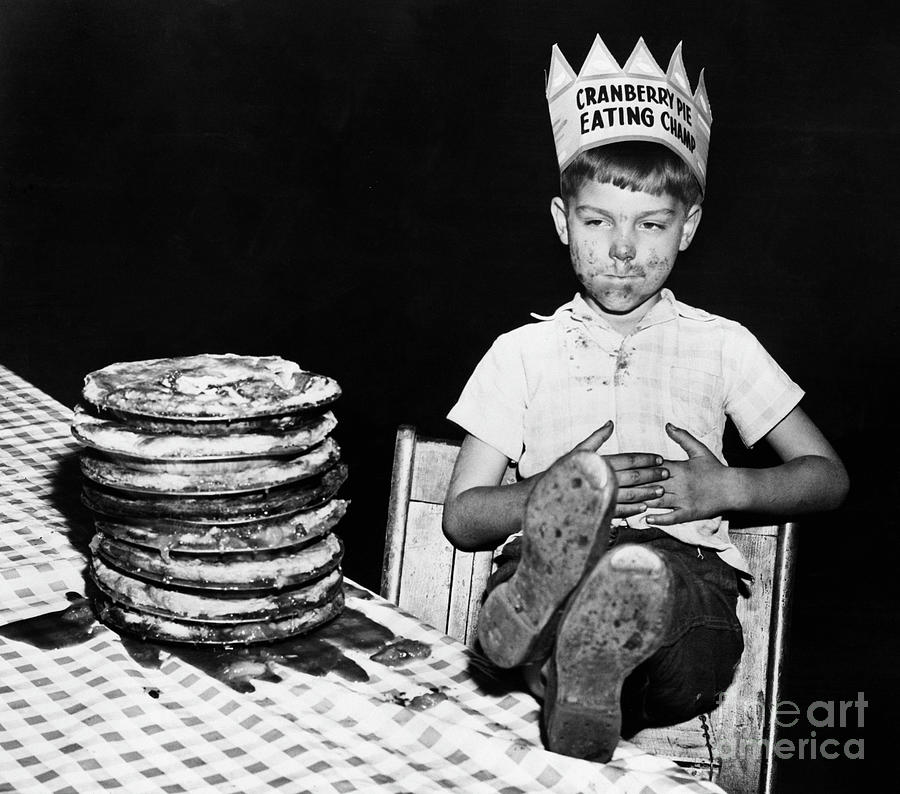 Cranberry Pie Eating Champ Photograph by Bettmann