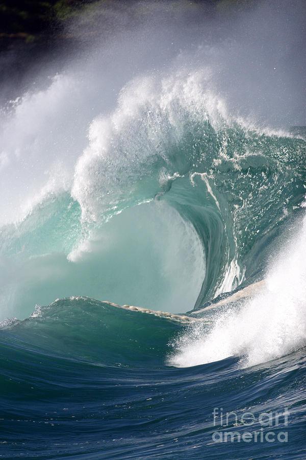 Tide Photograph - Crashing Wave by Mana Photo