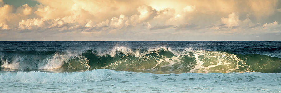 Crashing Waves and Cloudy Sky by Uncle Arny