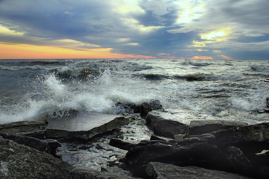 Crashing Waves Photograph - Crashing Waves by Angela Murdock