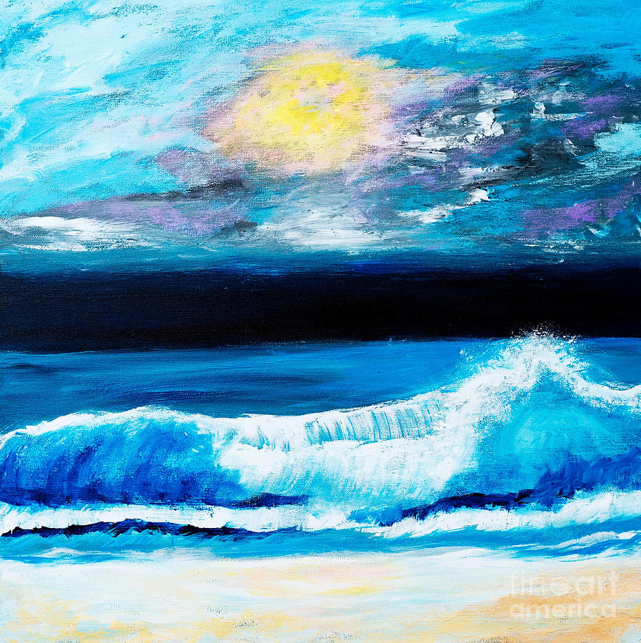 Crashing Waves by Art by Danielle