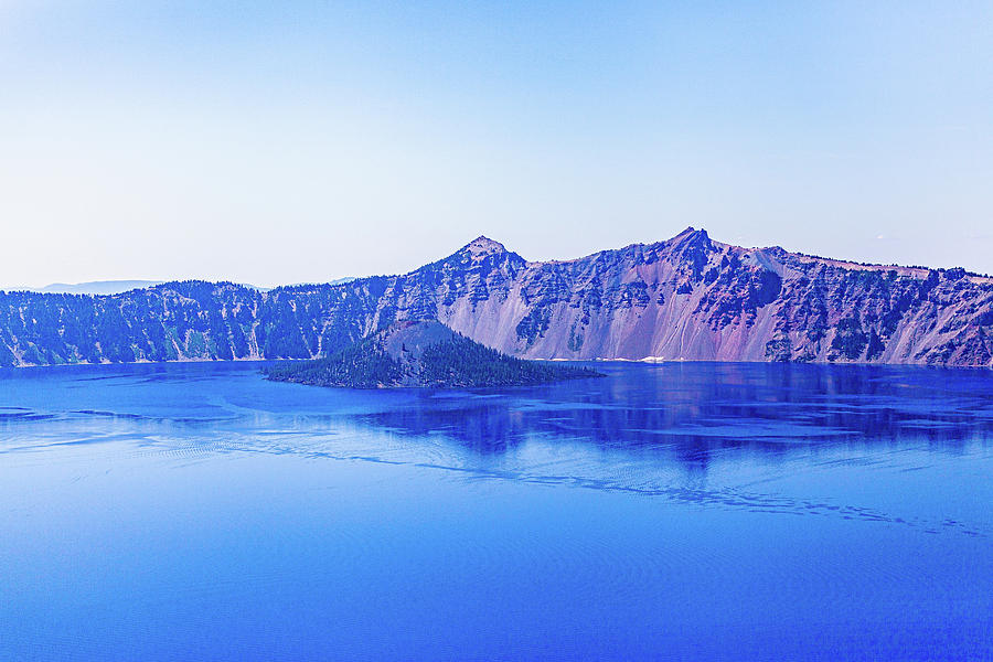 Blue Photograph - Crater Lake #4 by John Heywood