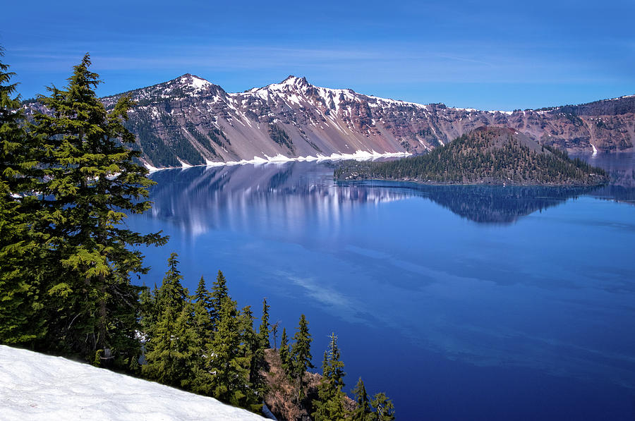 Crater Lake in Oregon by Carolyn Derstine