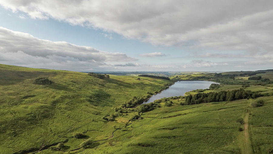 Cray Reservoir Wales UK by Drone  by John McGraw