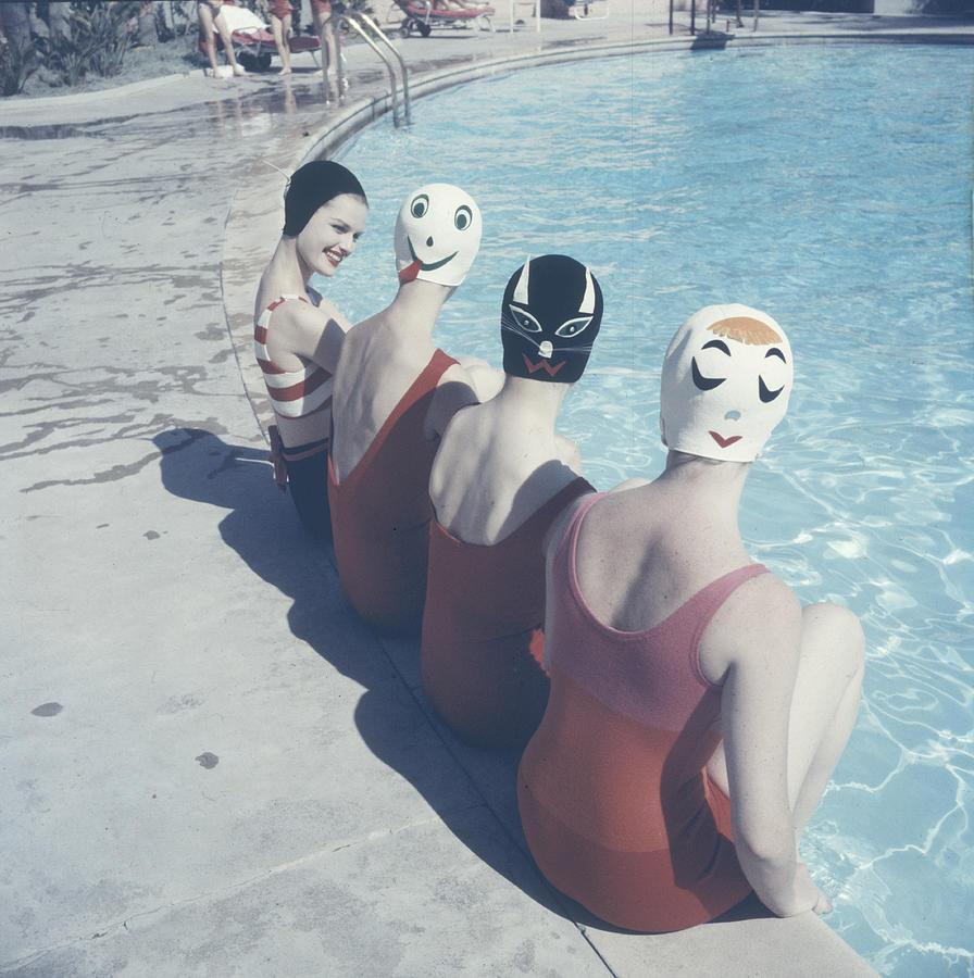 Crazy Swim Caps Photograph by Ralph Crane