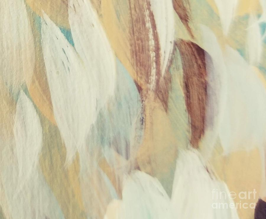 Cram Painting - Cream #2 by Maria Langgle