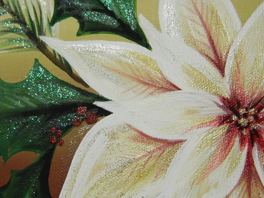 Cream Poinsettia by Karen Mesaros