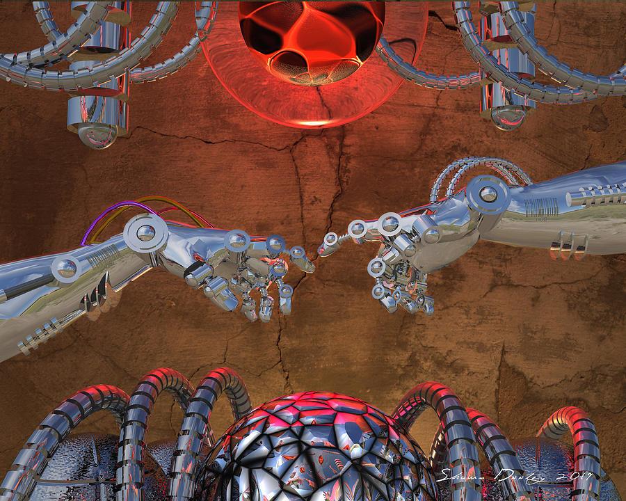 Creation Digital Art - Creation Of Adam 2.0 by Shawn Dooley