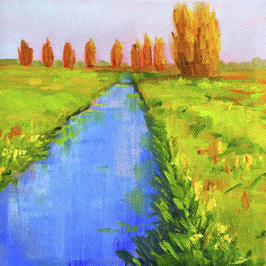 Creek Side Landscape  by Nancy Merkle