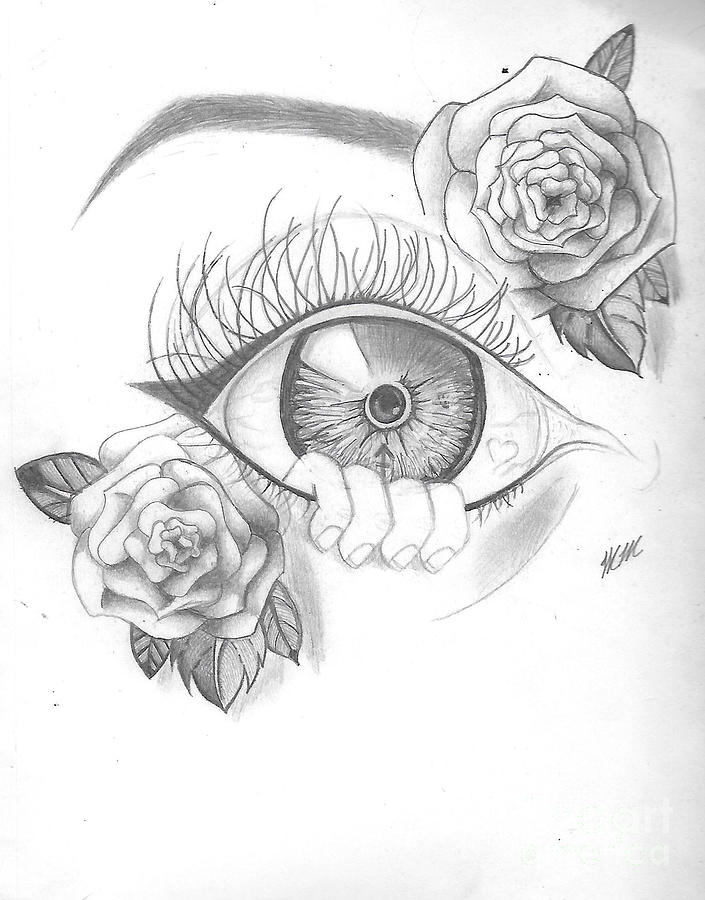 Creepy Eye and Rose by Marissa McAlister