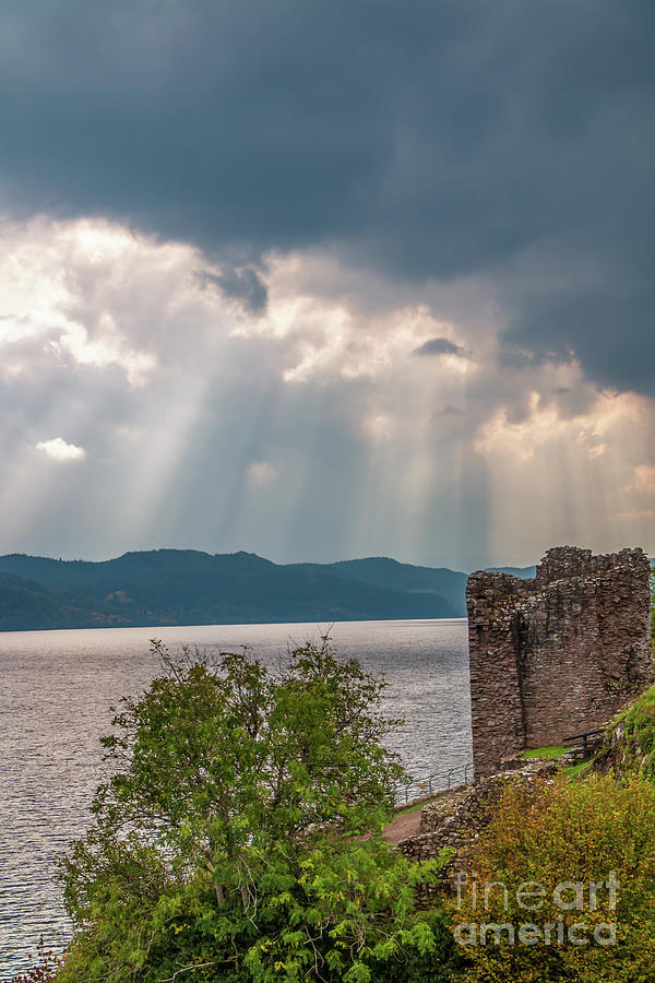 Crepuscular Rays Over Loch Ness Photograph