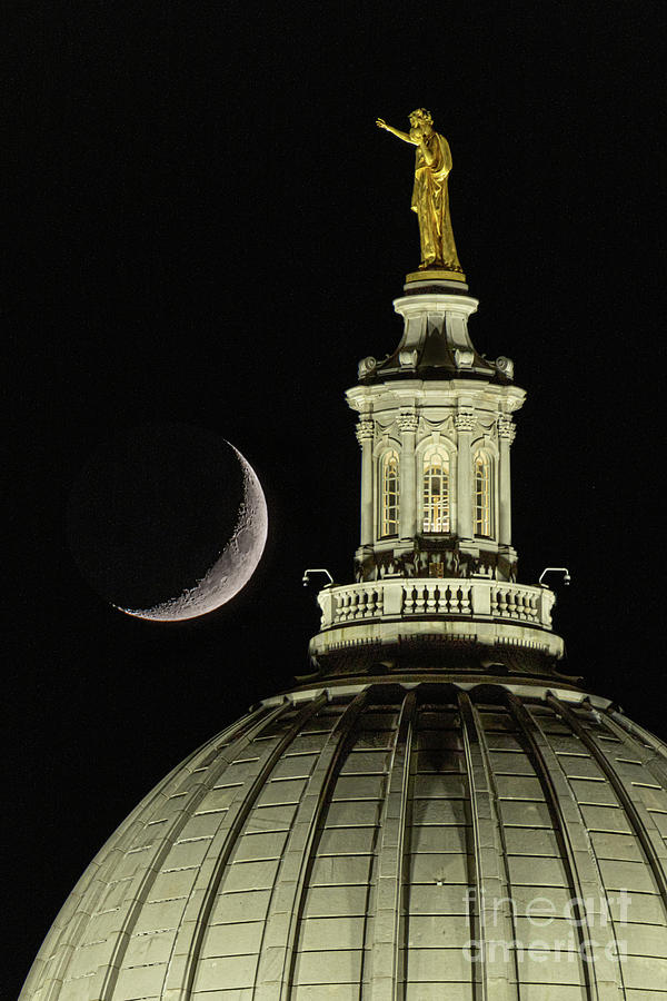 Crescent Moon Atop the Dome by Amfmgirl Photography