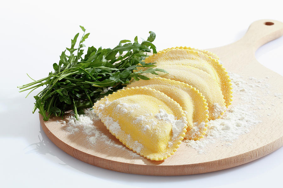 Crescent Shape Pasta With Flour And Photograph by Westend61