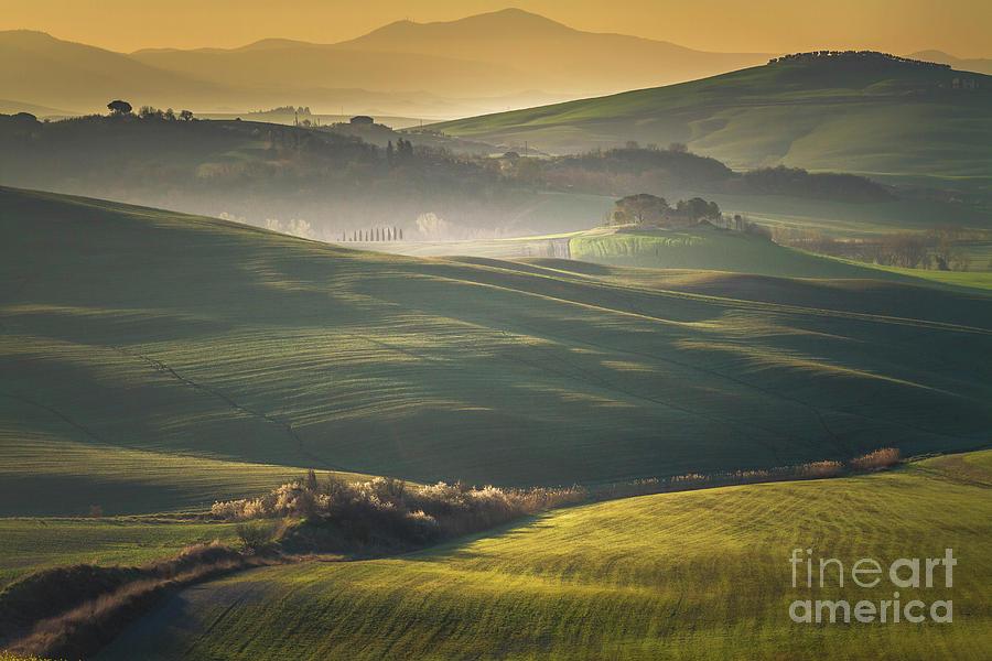 Crete Senesi Landscape In Tuscany Photograph