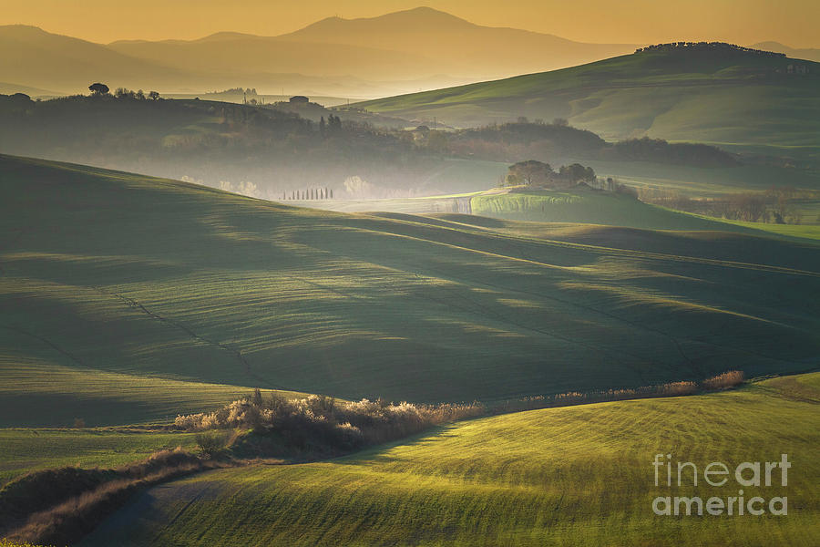 Crete Senesi Landscape in Tuscany by Helga Koehrer-Wagner