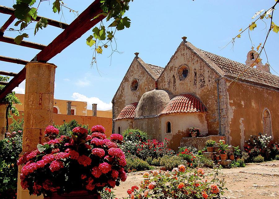 Cretes Monastery Of Arkadi Photograph by Brent Scheneman