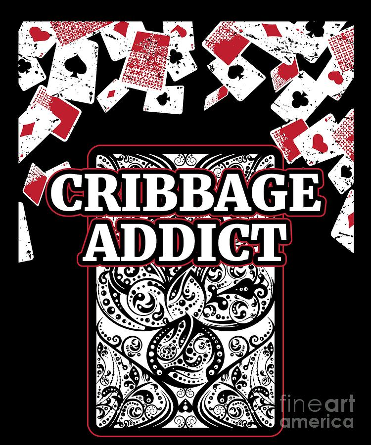 Cribbage T Shirt Gift For Cribbage Card Players And Teams For Competitions  And Tournaments