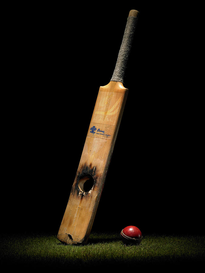 Cricket Bat With Hole And Ball Photograph by Phil Ashley