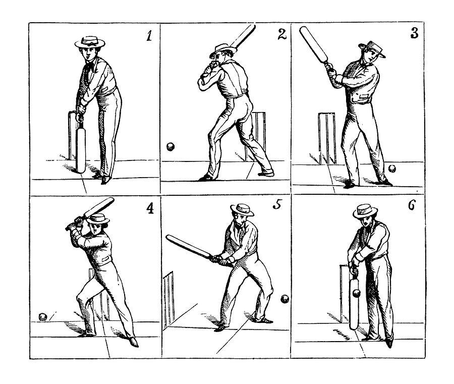 Cricket Batsman Hitting The Ball | Digital Art by Nicoolay