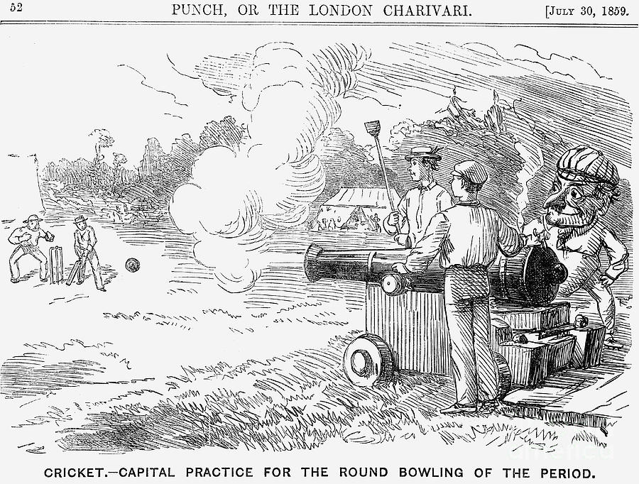 Cricket - Capital Practice Drawing by Print Collector