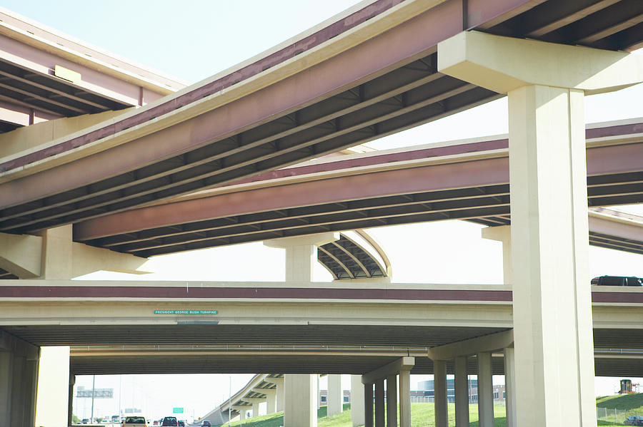 Crisscrossing Freeway Overpasses Photograph by Siri Stafford
