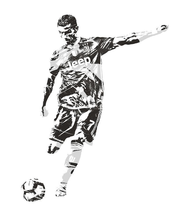 Cristiano Ronaldo Juventus Pixel Art 2