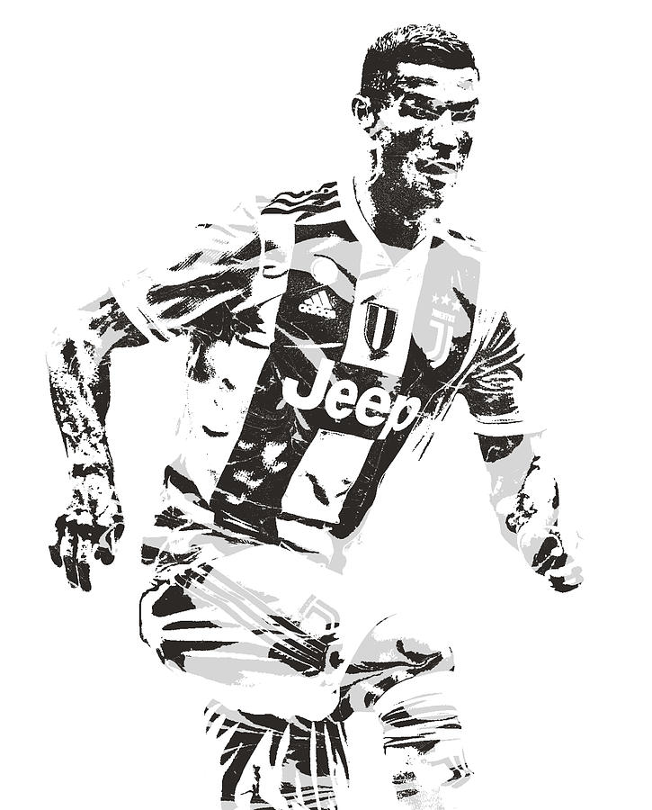 Cristiano Ronaldo Juventus Pixel Art 3
