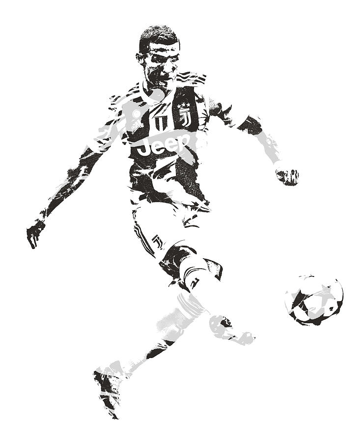 Cristiano Ronaldo Juventus Pixel Art 4