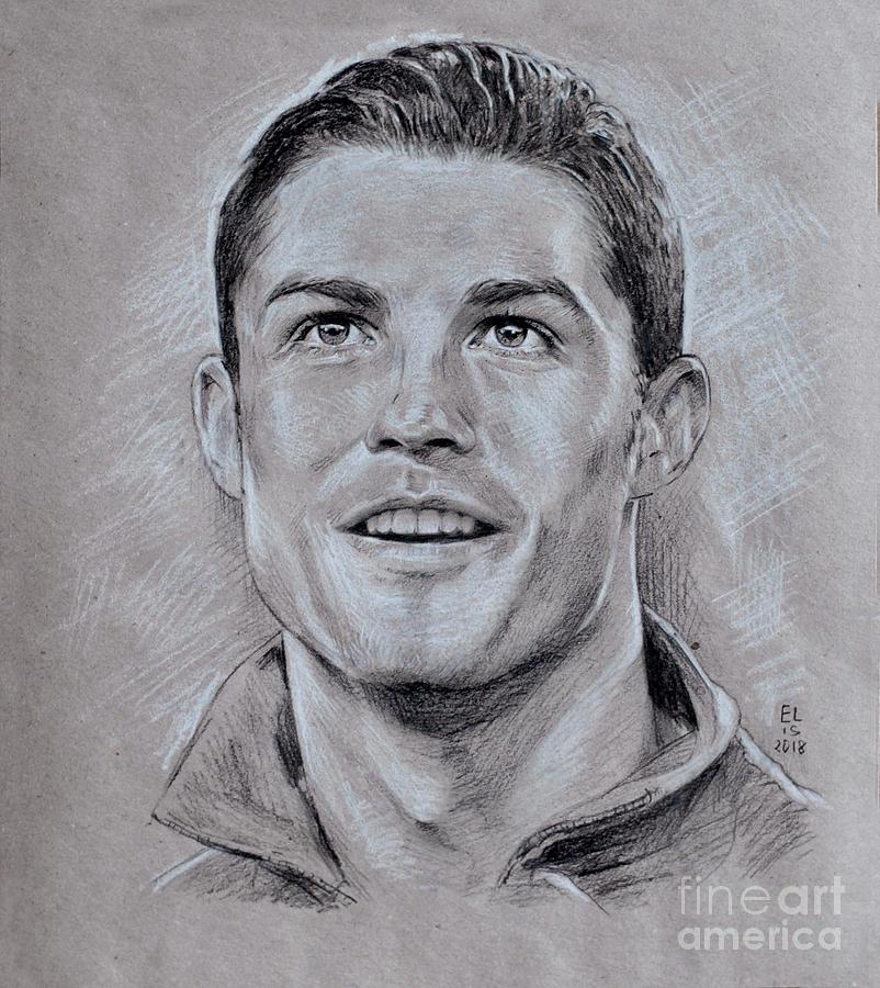 Cristiano Ronaldo Drawing By Olesia Panaseiko
