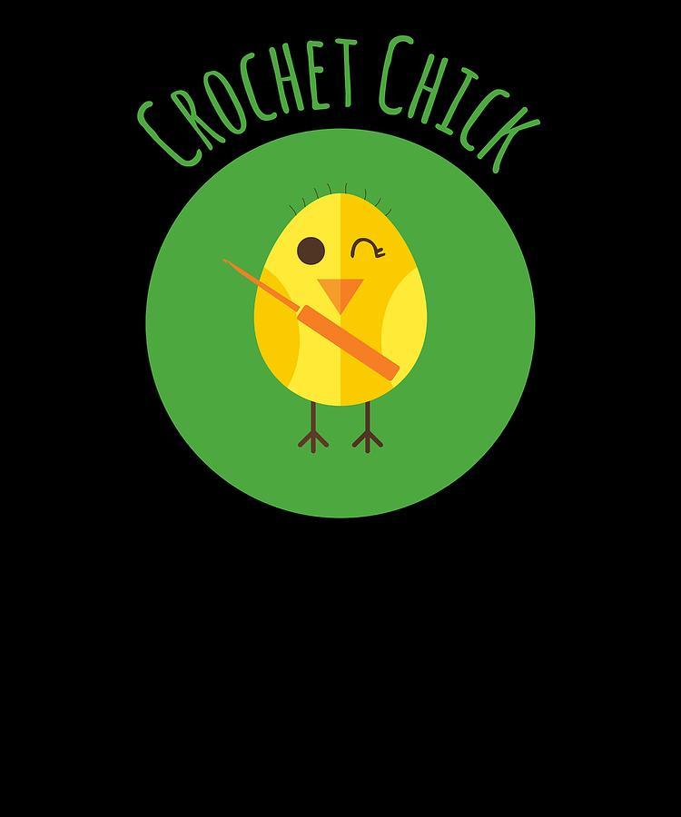 Crochet Digital Art - Crochet Chick by Kaylin Watchorn