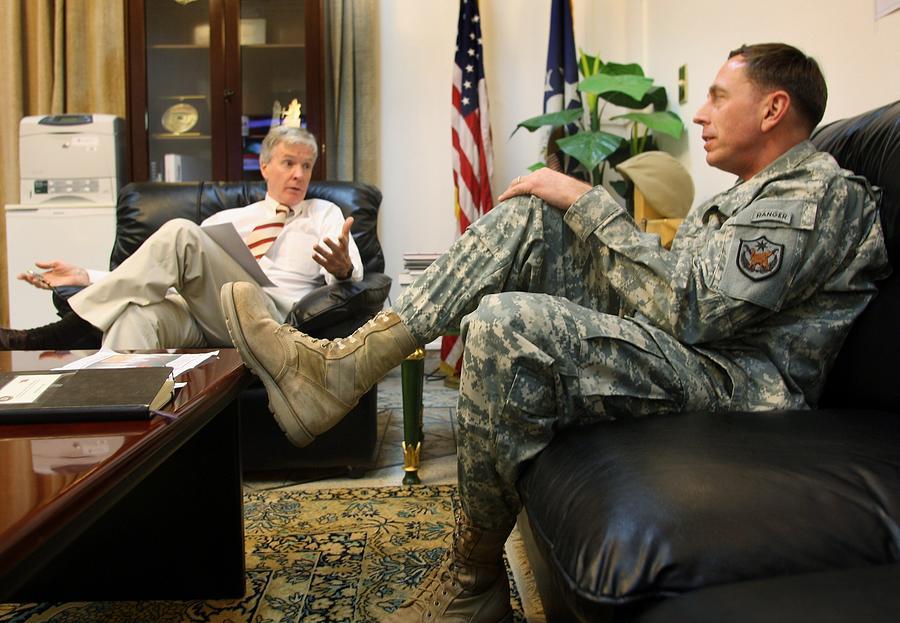 Crocker And Petraeus Prepare For Report Photograph by John Moore