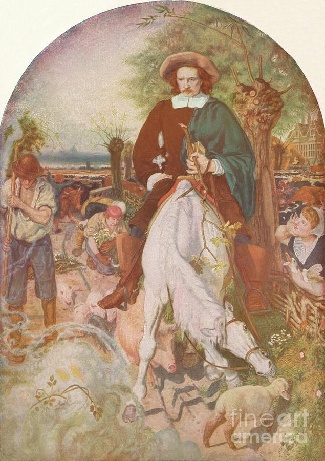 Cromwell On His Farm, 1874, 1918 Drawing by Print Collector